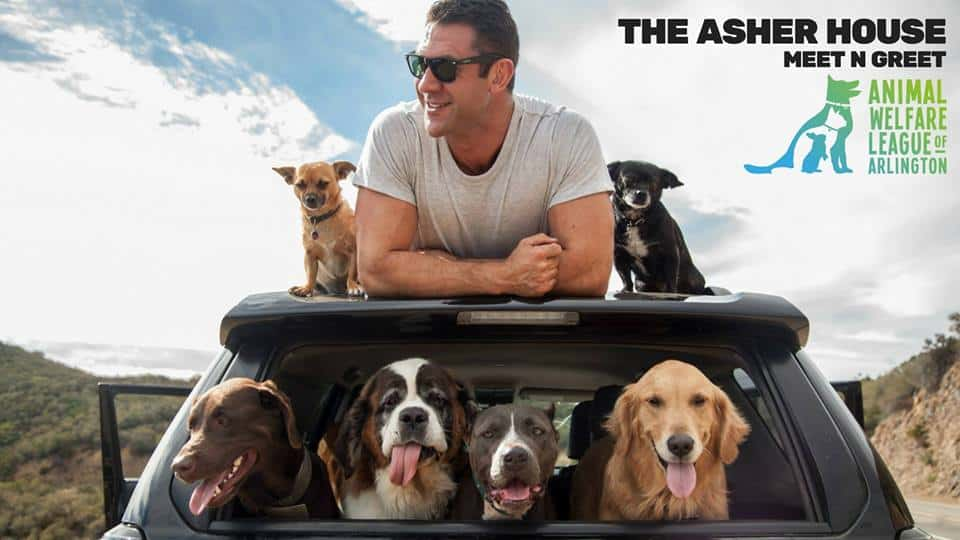 The asher house meet n greet adoption event awla the asher house with his six rescue dogs in tow lee asher is highlighting the importance of companionship and pet adoption and hell be making a m4hsunfo